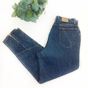 Lee | Vintage High Waist Acid Wash Zip Ankle Jeans